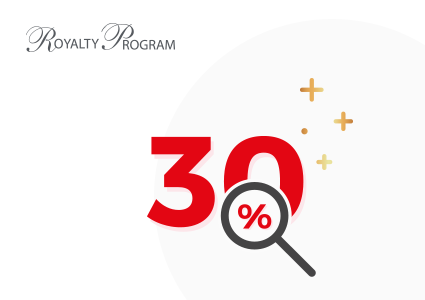 30% sur le catalogue Royalty Program !